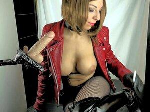 Mira-Belle-Table, Leather & Dildo Smoking Porn