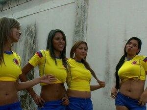 Latina Ladies Time Futebol Bang Seu Treinador Quente Porn