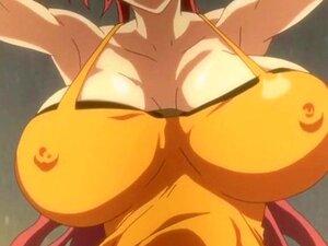 Big Meloned Hentai Doing Fellatio Porn