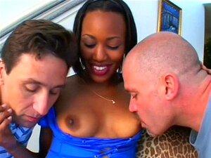 Ménage à Trois Interracial Misty Haze Porn