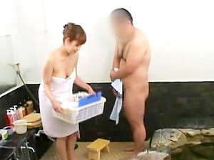 Massagem De Pênis CFNM Japonesa Legendada Em Uma Casa De Banhos Porn