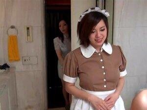 Empregada De Oriental Sensual Em Cena Erótica Hotel, Porn