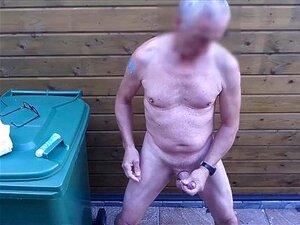 Expositionist Naked Bondage Public Outdoor Edging Solowank Lubed Cumshot Porn
