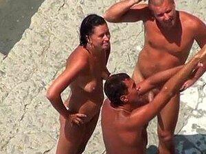 Nudez Na Praia-Ménage à Trois Na Praia, Porn