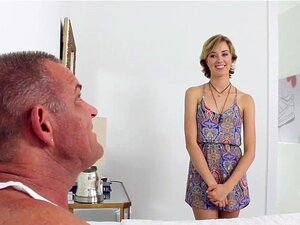 FamilyStrokes - Presente De Dia De Pais De Enteada Tesão Bonita Porn