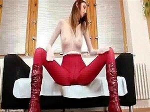 Pamela Sexy Totalmente Meias De Nylon Coberto Vídeo De Masturbação Porn