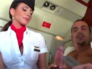 Passageiro Sugação De Cougar Aeromoça Porn