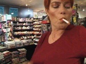 MILF Ruiva-curto Fumar-Fetish-porra Porn