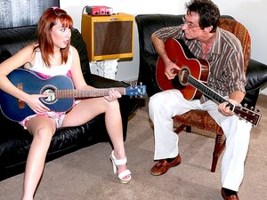 Jack Malone & Delila Darling In Can't Pass A Music Test But Her Slit Saves Her Ass-BestGonzo, She Has No Interest In Playing Guitar And She Knows That If She Speeds And Flashes Her Crotch To That Old Pervertido Of A Teacher He Will Dive For Her Pussy Porn